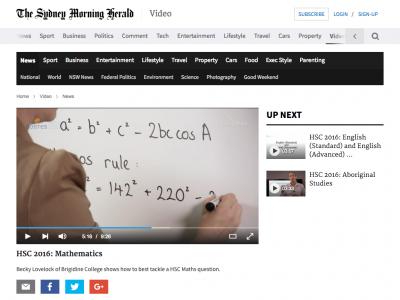 Screenshot of HSC 2016: Mathematics