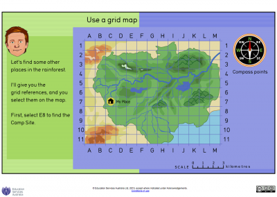 Screenshot of Rainforest: use a grid map