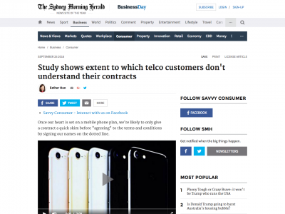 Screenshot of Study shows extent to which telco customers don't understand their contracts