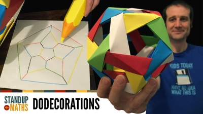 Screenshot of How to make an edge-coloured origami dodecahedron