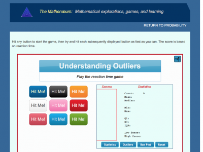 Screenshot of Understanding Outliers