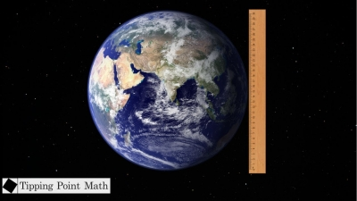 Screenshot of Measuring the Earth's Size (without Google)