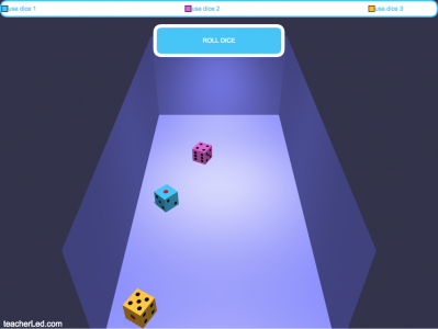Screenshot of Classroom Dice