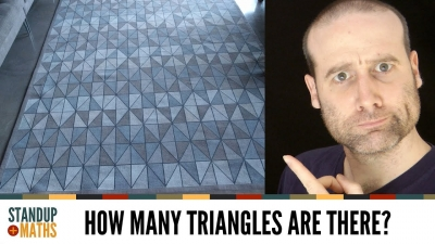 Screenshot of The Rug Puzzle: how many triangles?