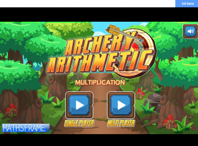 Screenshot of Archery Arithmetic - Multiplication