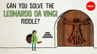 Screenshot of Can you solve the Leonardo da Vinci riddle?