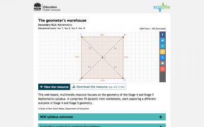 Screenshot of The geometer's warehouse