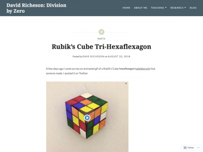 Screenshot of Rubik's Cube Tri-Hexaflexagon