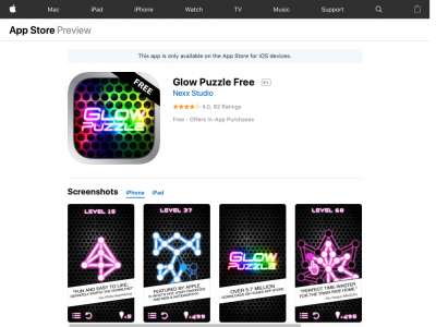 Screenshot of Glow Puzzle